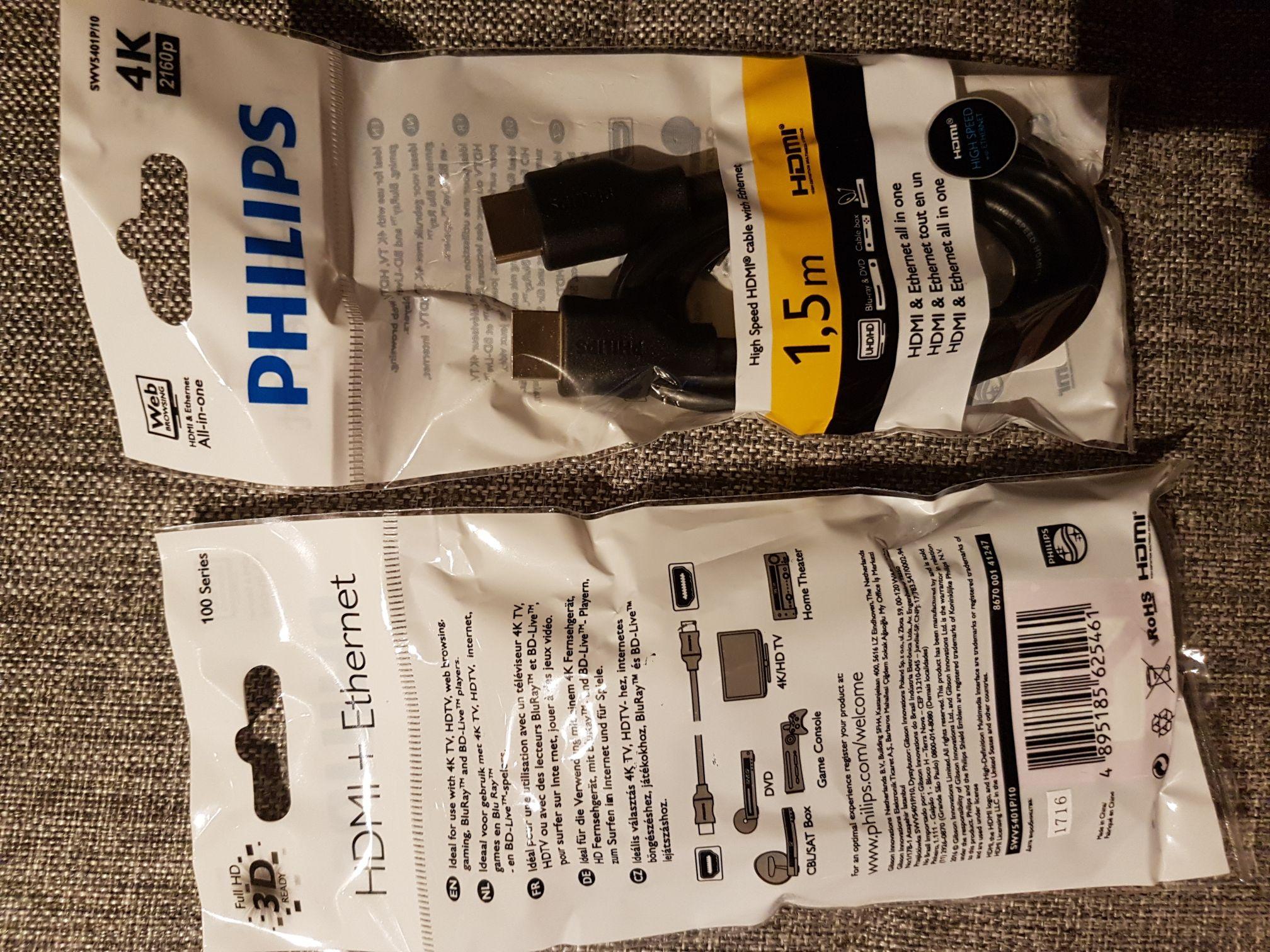 Philips HDMI Kabel 1,5m 2160p 4K-fähig @ Action Bundesweit