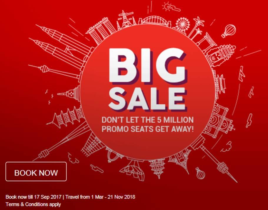 Air Asia BIG Sale: Flugtickets in Südostasien ab US$ 4 - z.B. Kuala Lumpur - Saigon für US$10 oder nach Perth für US$49 (März-Nov. 18)
