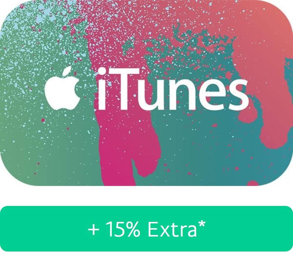 15% extra iTunes-Guthaben über [Paypal]