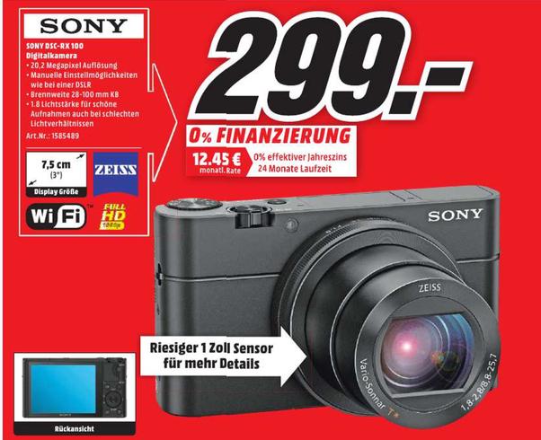 [Media Markt] Sony RX 100 Mark I (ab Mittwoch)