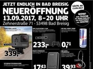 [Lokal Black.de 53498 Bad Breisig] GOPRO HERO 5 BLACK für 339 € ; SONY PLAYSTATION 4 SLIM + DualShock für 233 € ; Kitchenaid für 199 €; RedBull 0,2l 0,71 €