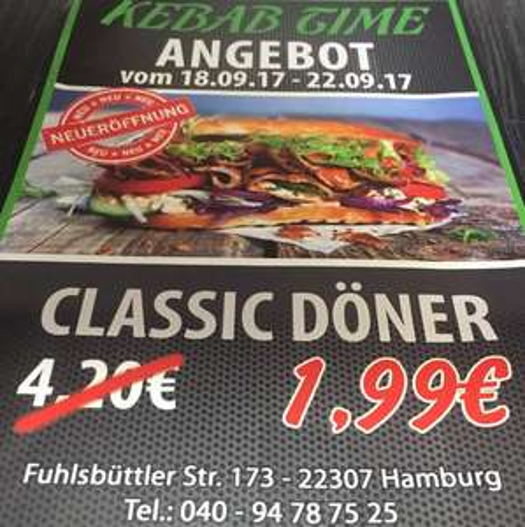 Döner für 1,99 Euro [lokal: Hamburg, Barmbek-Nord]