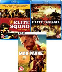 "PC DVD-ROM - Max Payne 3 Bundle (inkl. 2x Blu-Ray ""The Elite Squad"" 1&2) für €28,63 [@TheHut.com]"