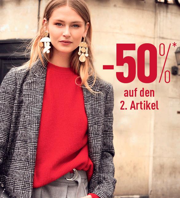 50% Rabatt auf die zweite Jeans - Zwei Strickjacken für 10,50€