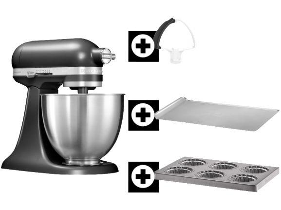 KitchenAid Artisan Mini inklusive Flexi-Rührer oder Spiralschneider @mediamarkt.de