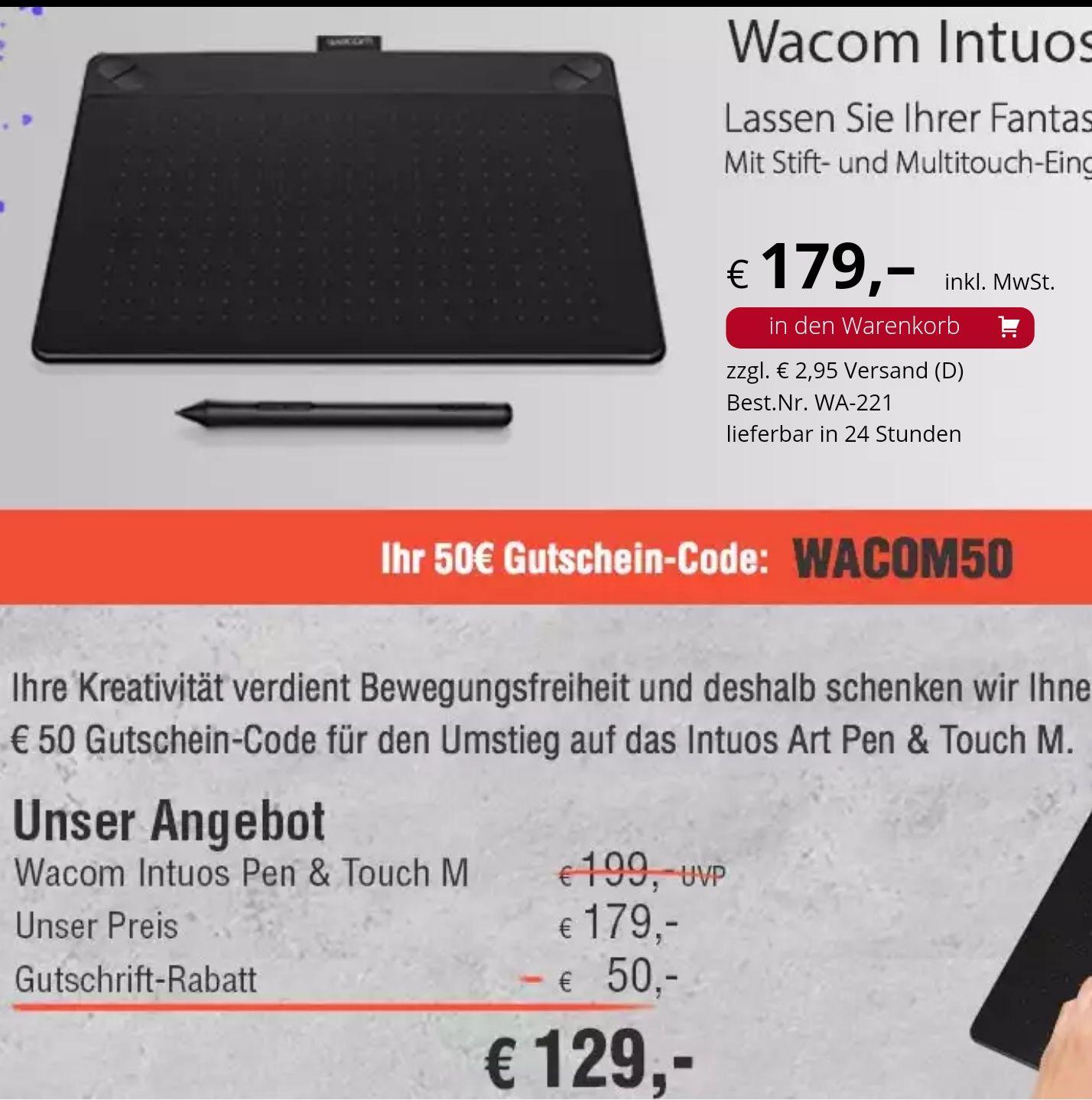 EDV-Buchversand.de | Grafiktablett Wacom Intuos Art Pen & Touch M Black