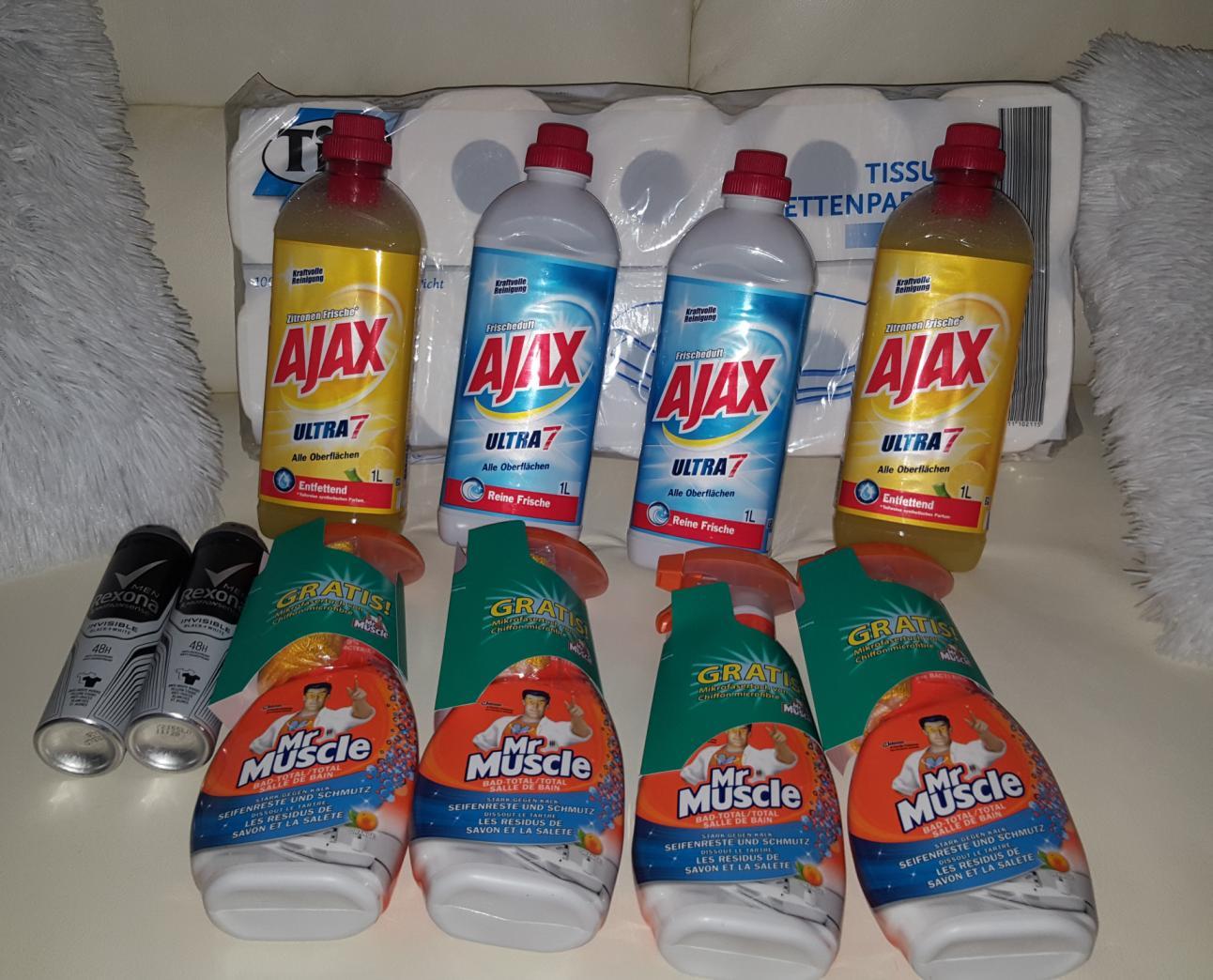 [REAL] Bsp. 4x Mr. Muscle Reiniger + 2x Rexona Deo + 4x Ajax Allzweckreiniger für 5,00€