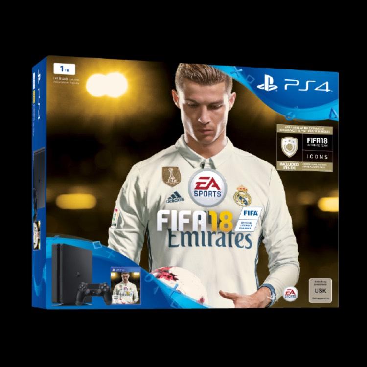 NUR ONLINE! SONY PLAYSTATION 4 SLIM 1TB INKL. FIFA 18 RONALDO EDITION