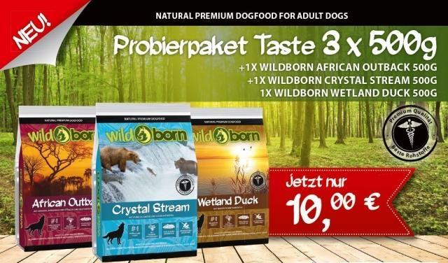 2,0 kg kaltgepresstes, getreidefreies Hundefutter von Wildborn für 7,90 € + Messbecher