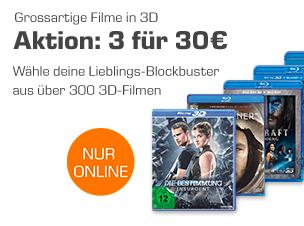 3x 3D Blu-rays aus 300 Filmen für 30€ bei Saturn