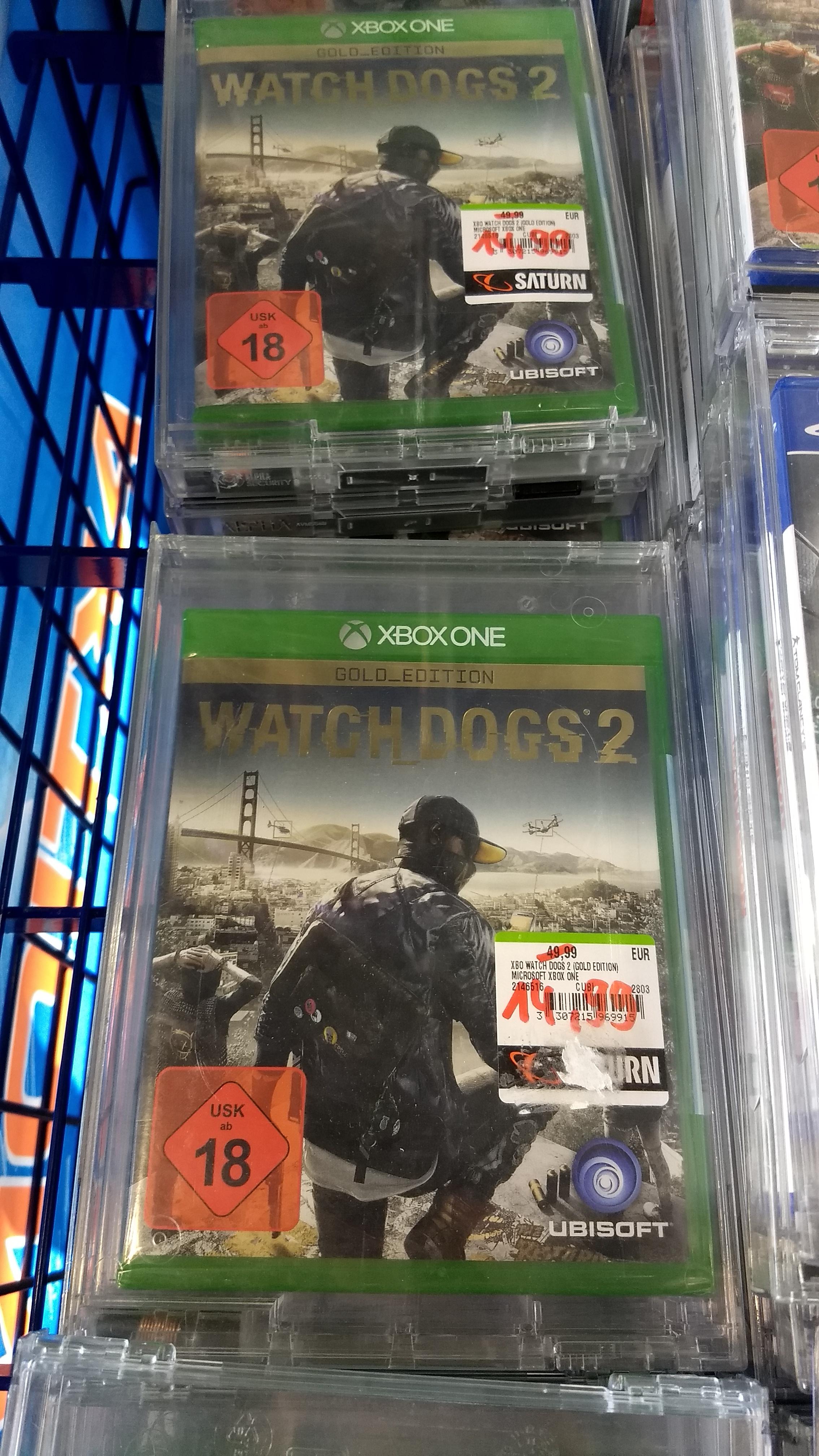(Lokal Saturn Berlin Europa Center) Watch Dogs 2 Gold Edition Xbox One für 14,99€
