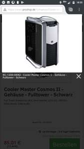Coolermaster Cosmos II - Silber / Black (25th Anniversary Edition) -74% !!!