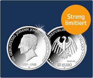 """web.de/btn-muenzen.de - 20€ """"300. Geburtstag J.J. Winckelmann"""" Münze mit 7,50€ oder 15,00€ Cashback"""