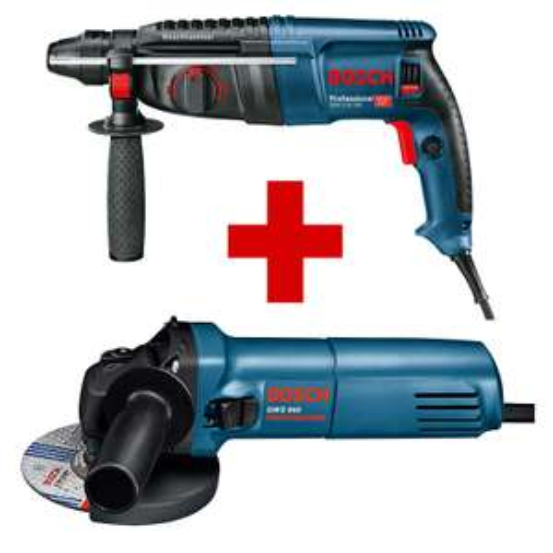 Bosch Professional Set - Bohrhammer GBH 2-26 DRE & Winkelschleifer GWS 660