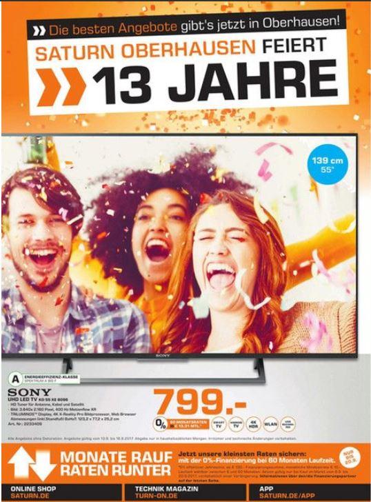 Lokal Sony KD 55 XE 8096   799.- und viele Weitere Geile Angebote ...Geiz ist Geil....