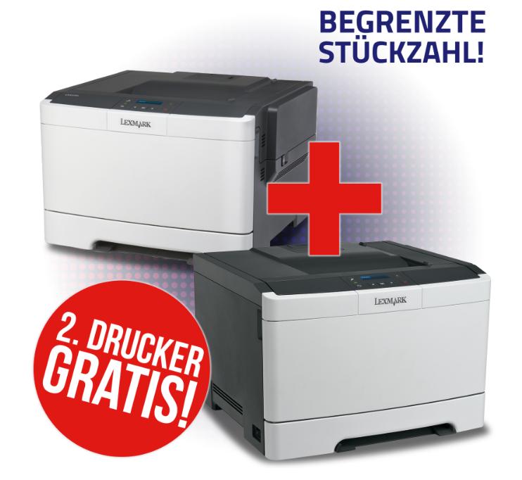 2x LEXMARK CS310dn Drucker für 79€ - 2x Farblaserdrucker mit Duplexdruck