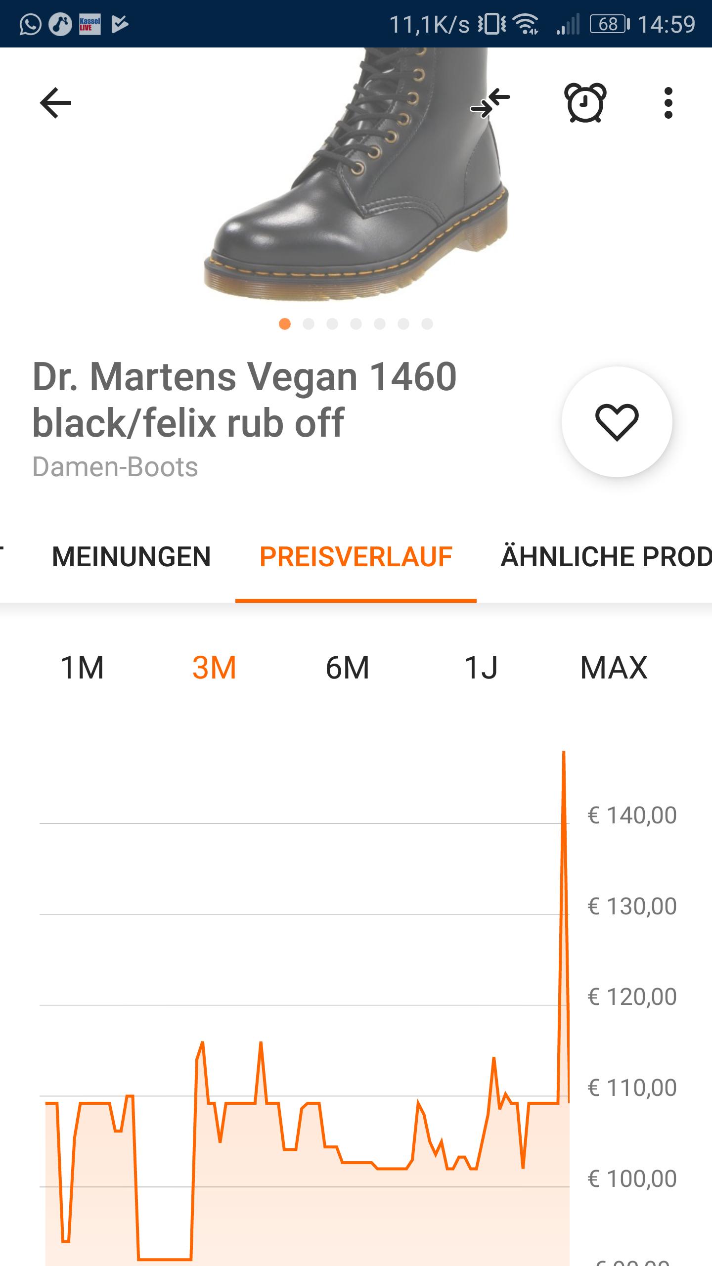 Doc Martens 1460 Schuhe, vegan, laktosefrei, glutenfrei, in 43