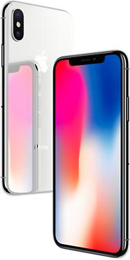 iPhone X 64 GB (Silber oder Schwarz) + 5GB LTE & AllNet Flat (24 Monate)