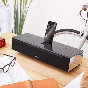 Loewe SoundPort Compact 2.1 Bluetooth Docking Station (Bassreflex, Lightning-Dock, 3,5mm Klinke, NFC, Mikrofon) in schwarz oder silber