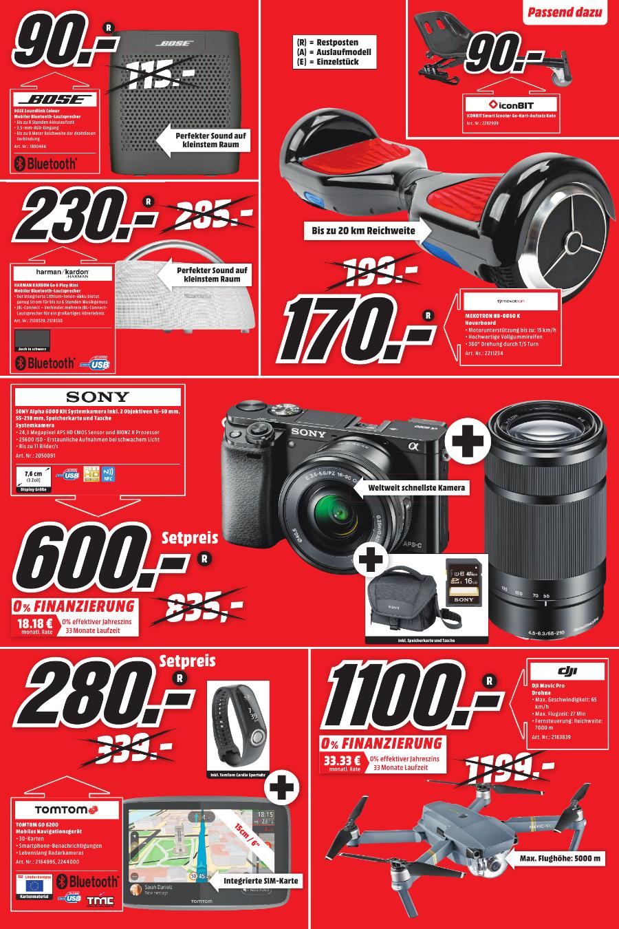 Lokal Media Markt Gütersloh Sony Alpha 6000 mit 16-50mm und 55-210mm + Tasche + SD-Karte für 600,- Euro