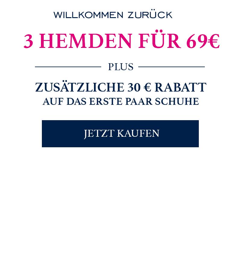 3 Charles Tyrwhitt Hemden für 69 Euro (+6,95 Versand)