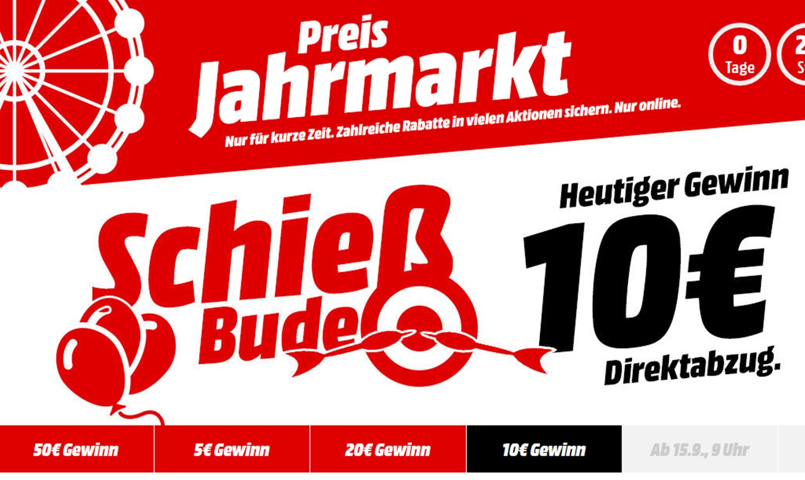 Heute beim Mediamarkt Preis Jahrmarkt: 10 Euro Sofortabzug - Sammelthread