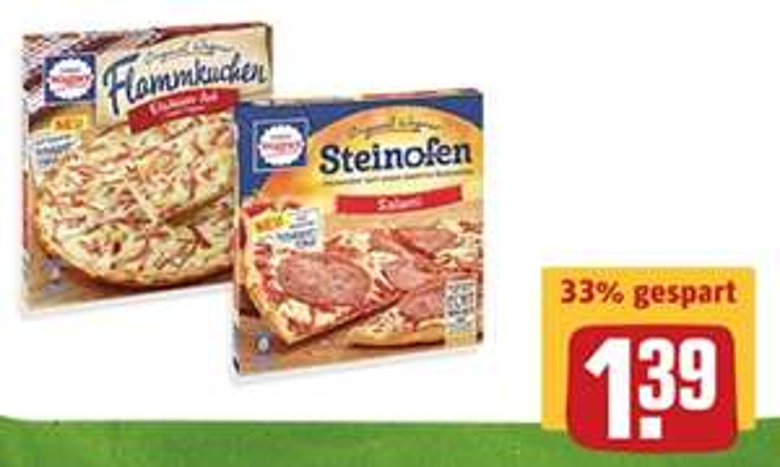 REWE - Wagner Steinofen Pizza, Piccolinis, Flammkuchen wieder zum Sensationspreis.