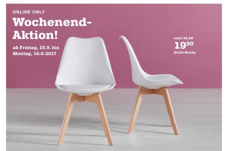 2 x Stuhl Rocky im Skandi-Stil für zusammen 33,75€ inkl Lieferung bei Mömax
