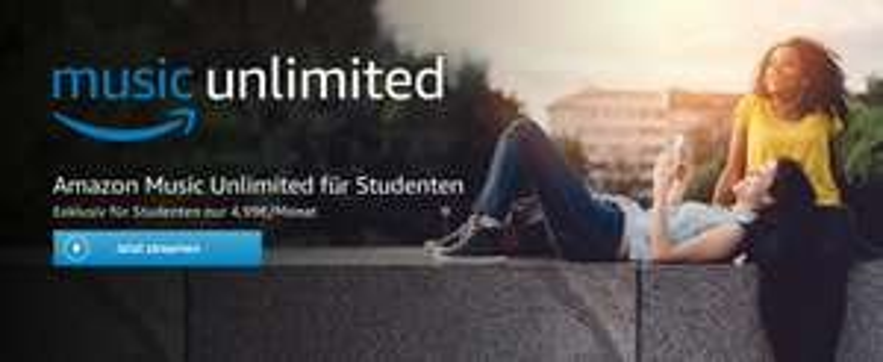 Amazon Music Unlimited für Studenten 6 Monate 6 Euro, danach 4,99 im Monat