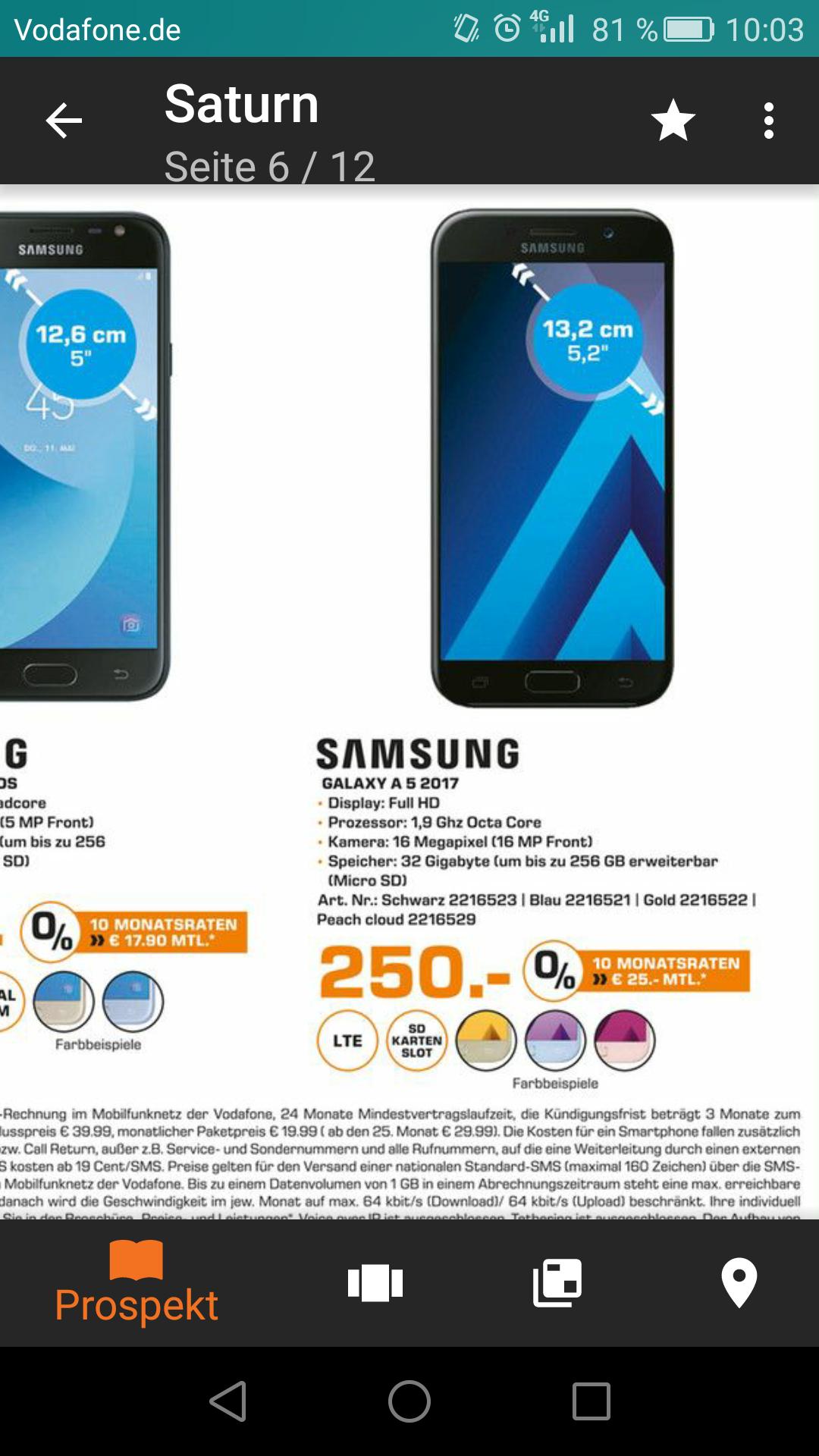 (Lokal saturn berlin ) Samsung Galaxy A5 2017