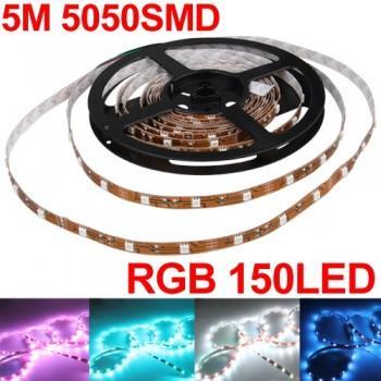 vielfarbige flexibele LED Lichterkette (4.8W, RGB, 5M) für 17,71 Euro inkl. Versand