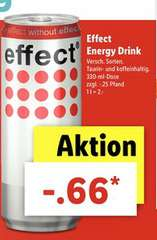 Lidl ab 18.09.: Effect Energy Drink - für  66 Cent (+Pfand) für die 330ml Dose, verschiedene Sorten