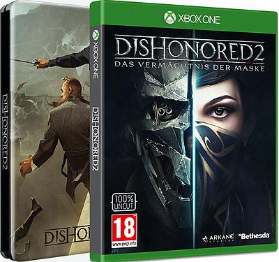 Dishonored 2: Das Vermächtnis der Maske D1 Edition inkl. Steelbook + 5 DLCs (Xbox One) für 17,80€ (Gameware)