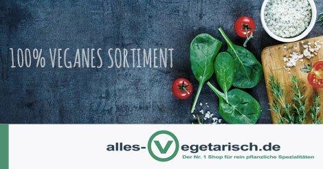 7,50€-Gutschein bei alles-vegetarisch.de ab 39€ Gültig bis 15.09