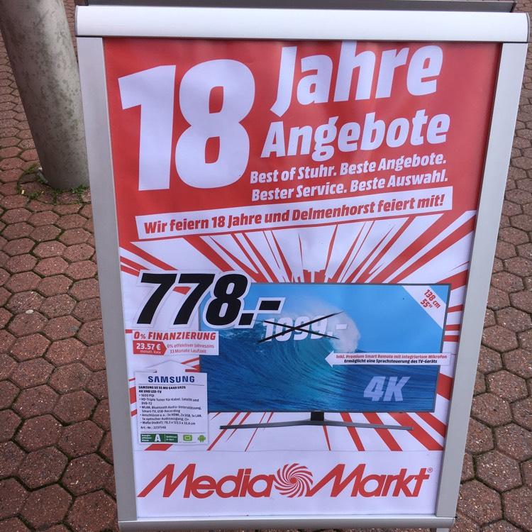 [lokal Media Markt Delmenhorst] Samsung UE55MU6449 4K 55 Zoll Fernseher