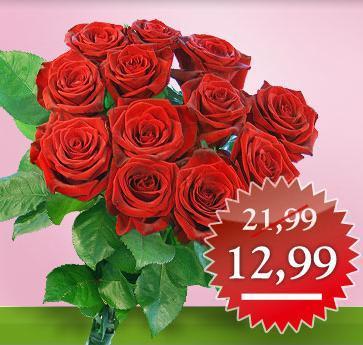 Rosen-Special bei Valentins - bis zu 41% Rabatt