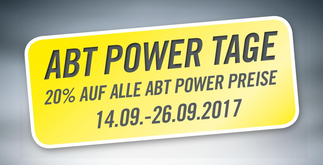 (Abt Sportsline) 20 % Rabatt auf alle Leistungssteigerungen vom Typ ABT Power