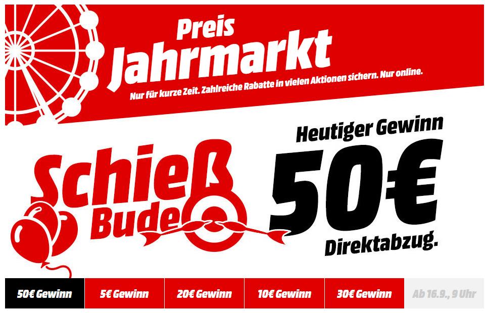 Jahrmarkt: Direktabzug von 5€ bis 50€ [Sammelthread] [Mediamarkt]