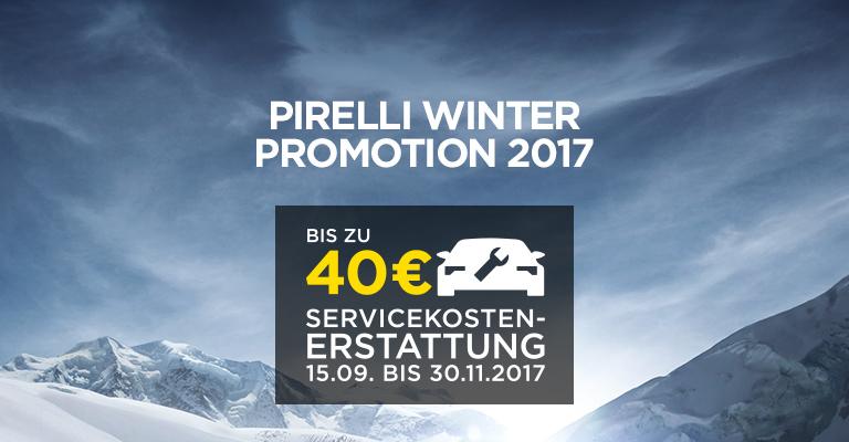 Pirelli Bis zu 40 € Servicekostenerstattung + Reifengarantie bei Kauf von 4 Winter/Ganzjahresreifen oder Kompletträdern