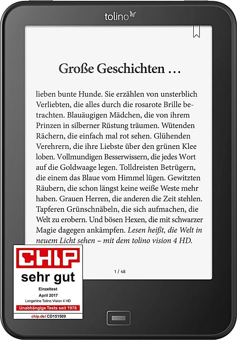 tolino vision 4 HD eBook-Reader für 135,15€ [Weltbild]