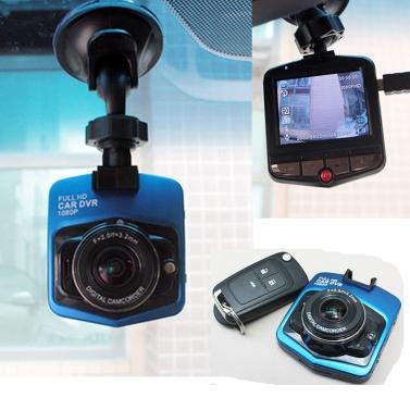 Dashcam - 2.4 Zoll 1080P 170 Grad Weitwinkel-Kamera mit KFZ-Halterung & -Ladekabel  tomtop