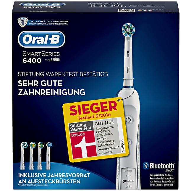 Oral-B Smart Series PRO 6400 [Rossmann Angebot + 10 % mit der App + 50,- Euro Cahback von Oral-B] = 39,99 Euro