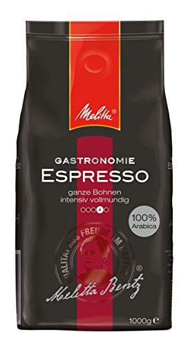 Melitta Gastronomie Espresso, Ganze Kaffeebohnen, 100 % Arabica, Kräftig würzig, Intensiv und ausgewogen, 1 kg Packung für 6,75 € @ amazon prime