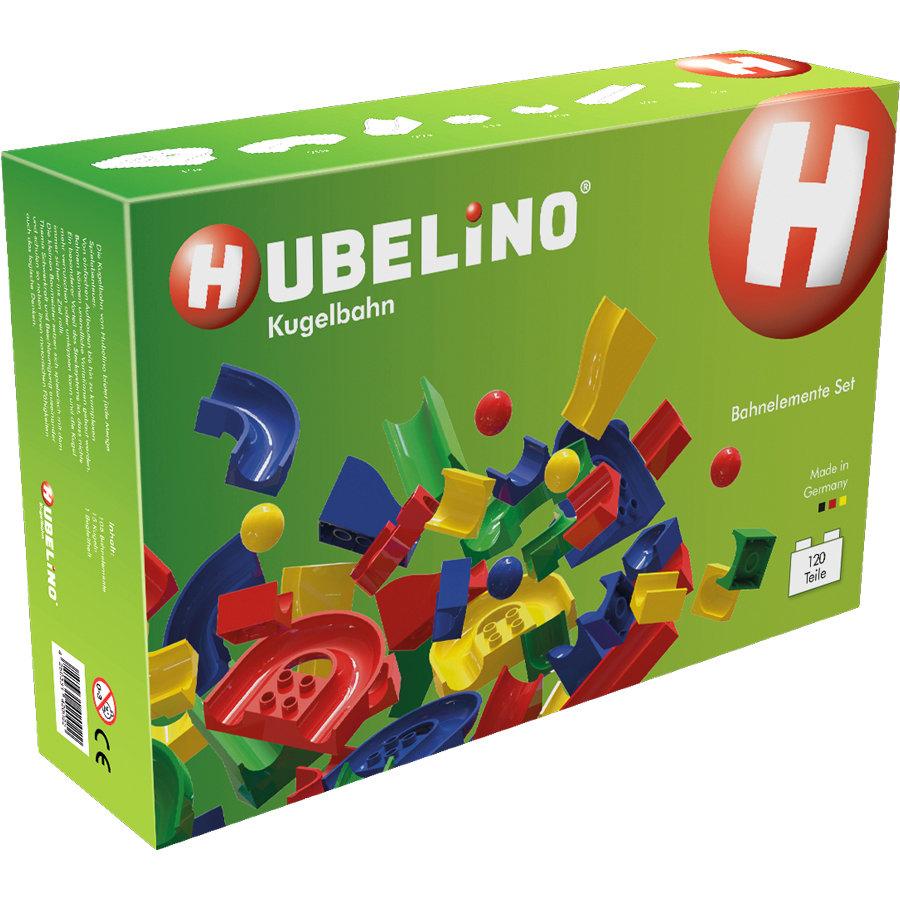 Hubelino Kugelbahn mit 120 Teilen - kompatibel mit Lego Duplo