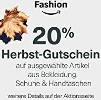 20% Herbst-Gutschein auf ausgewählte Artikel aus Bekleidung, Schuhe & Handtaschen [Amazon]