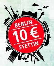 Berlin(AB)-Stettin 10 EUR pro Fahrt (Bahncard 7,50 EUR, 5er-Gruppe 28 EUR)
