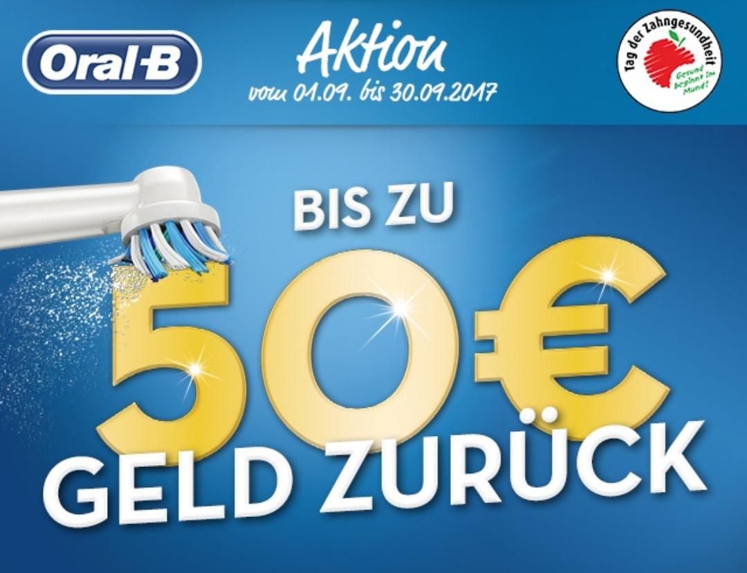 Bis zu 50€ Cashback Aktion von Oral-B