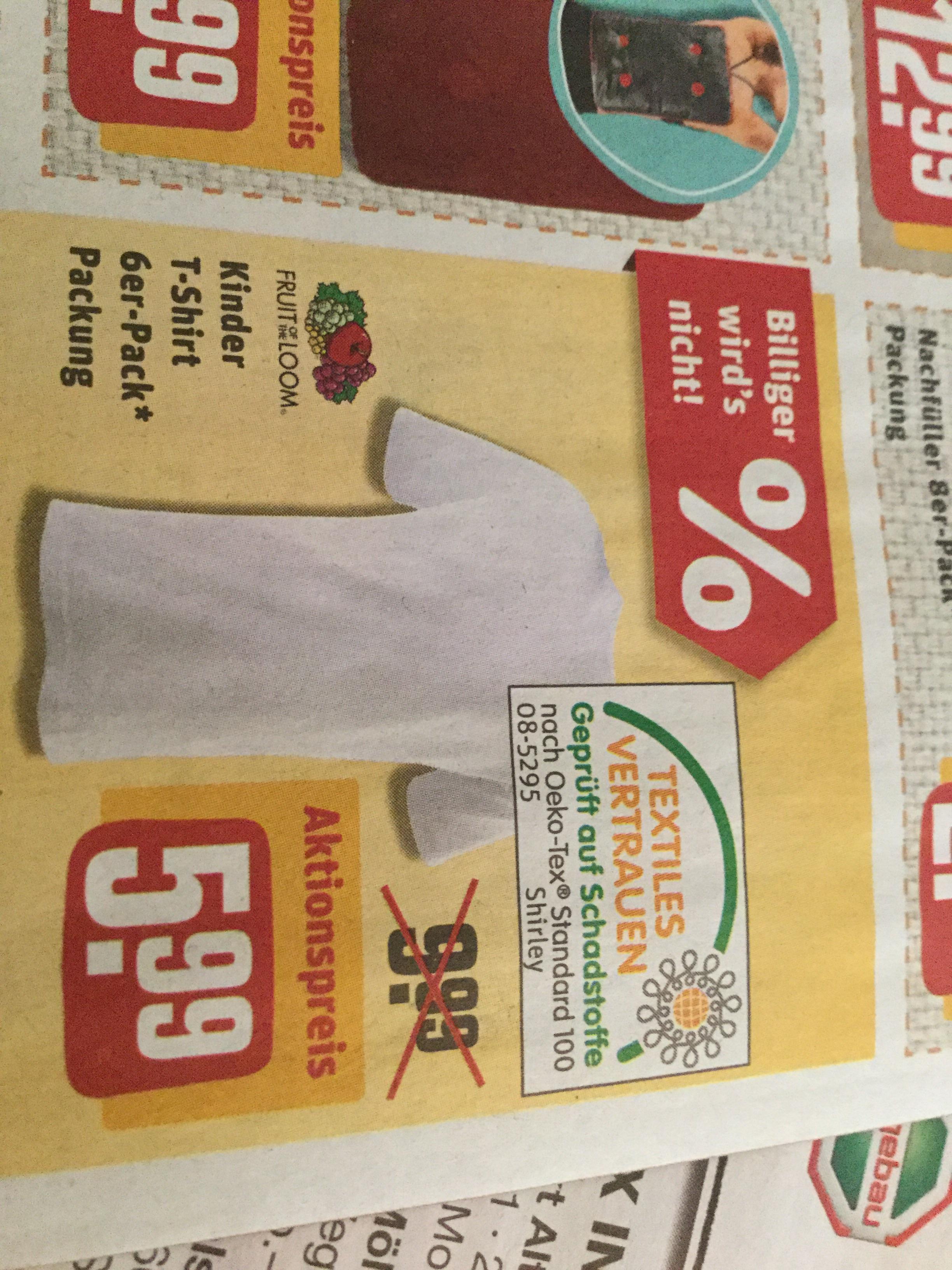 [REWE] Norddeutschland - Dein Markt - Wochenangebot - 6x Fruit of the Loom Kinder T-Shirt