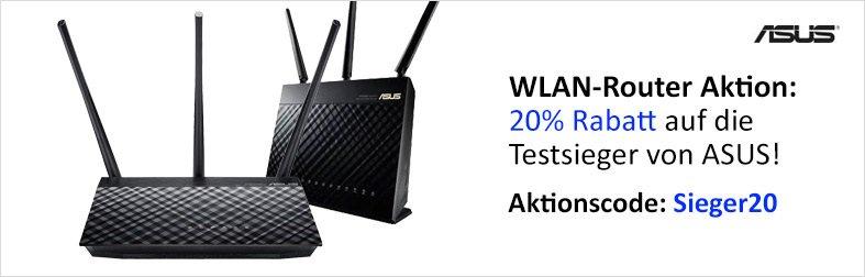 ASUS Testsieger-Router mit 20% Rabatt zum Bete Preis  z.B ASUS RT-AC68U AC190 fur 117,52 statt 140 euro ,ASUS RT-AC53 Router AC750 41,52 statt 47