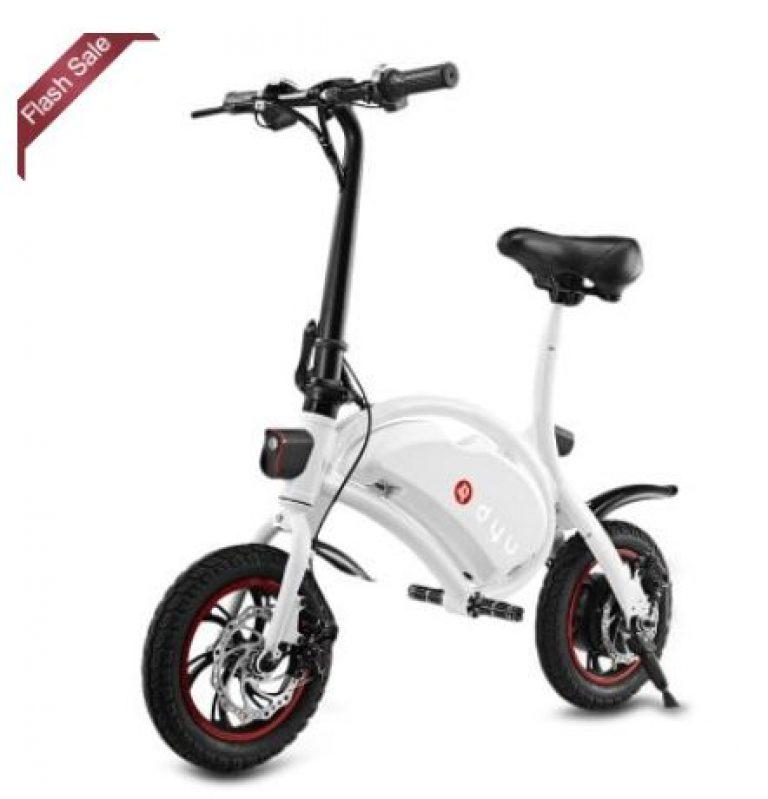 F-Wheel E-Bike DYU aus China, fertig verzollt (20 km/h, bis 120 kg, APP-steuerbar)